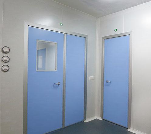 & Swing doors of phenolic resin - Clean rooms engineering - Ingelyt