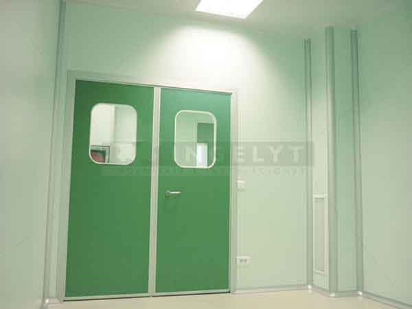 INGELYT manufactures several models of specific swing doors for use in clean rooms. The standard finishing is a phenolic resin plate although in special ... & Swing doors of phenolic resin - Clean rooms engineering - Ingelyt