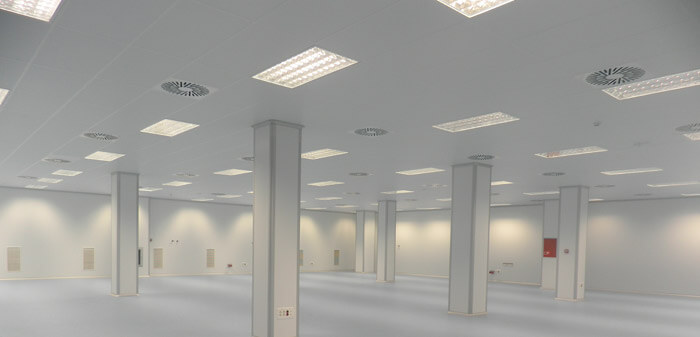 Paneles para salas blancas